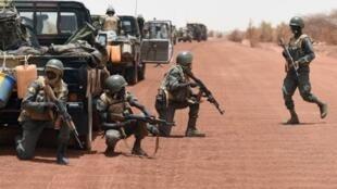 Des soldats de l'armée malienne en exercice anti-terroriste. (Image d'illustration).
