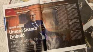 Entrevista de Umaro Sissoco Embaló à revista Jeune Afrique
