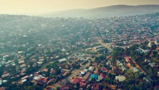 Une vue aérienne de Kigali.
