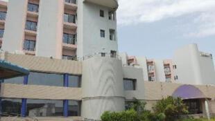 The Radisson Blu hotel in Bamako.