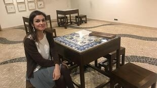 Filipa Didier na Livraria portuguesa de Macau a 14 de Dezembro de 2018.