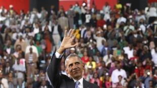 Le président Barack Obama lors de son voyage au Kenya le 26 juillet 2015.