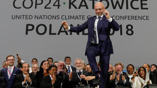 COP24 President Michal Kurtyka reacts during a final session of the COP24 U.N. Climate Change Conference 2018 in Katowice, Poland, December 15, 2018.