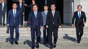 Đặc phái viên Chung Eui Yong của Hàn Quốc lên đường đi Bắc Triều Tiên ngày 05/09/2018.