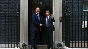 David Cameron and Manuel Valls in London on 6 October, 2014