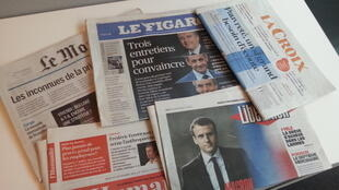 Primeiras páginas dos jornais franceses de 17 de novembro de 2016