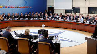 Les 29 ministres de la Défense des pays membres de l'Otan étaient rassemblés à Bruxelles les 14 et 15 février 2018.