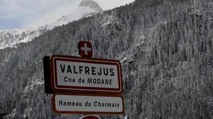 The area of the Petit Argentier pass where five French Foreign Legionnaires were killed in an avalanche.