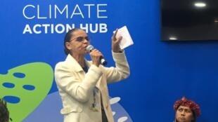 Marina Silva tem participado de atividades da COP 25, em Madri.