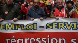 Manifestation en France, le 24 septembre 2019, contre la réforme des retraites voulue par le gouvernement. (Photo d'illustration)