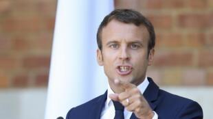 Emmanuel Macron en Bulgarie, le 25 août 2017.