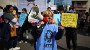 Một cuộc biểu tình phản đối các biện pháp kinh tế của chính phủ tại Buenos Aires, Achentina ngày 04/09/2019.