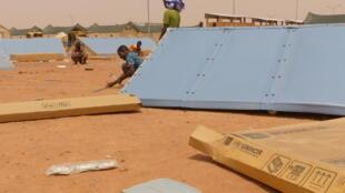 Le camp du HCR à Hamdallaye, près de Niamey, au Niger, lors de son ouverture en avril 2019.