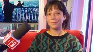 Andrea Ancira en los estudios de RFI