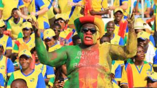 Des supporters du Cameroun à la CAN 2017.