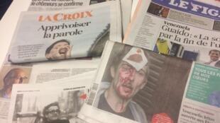 Primeiras páginas dos jornais franceses de 28 de janeiro de 2019