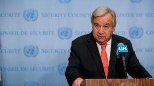 Le secrétaire général de l'ONU Antonio Guterres, le 1er août 2019.