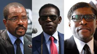 De gauche à droite: Gabriel, Teodoro et Teodorin Obiang.