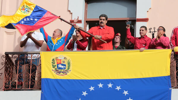 Crowds against Nicolas Maduro gather in Caracas, January 23 2019
