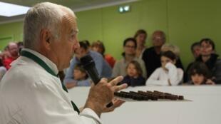 Visita da fábrica de chocolate de Beussent-Lachelle, no norte da França.