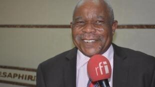 Clément Miérassa, leader du Parti social démocrate congolais (PSDC), au micro de RFI le 31 janvier 2020 à Brazzaville.
