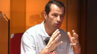 Sébastien Jean, économiste, directeur du CEPII (Centre d'Etudes Prospectives et d'Informations Internationales) dans les locaux de RFI le 3 août 2018.