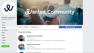 Wanted is the largest Facebook community in France