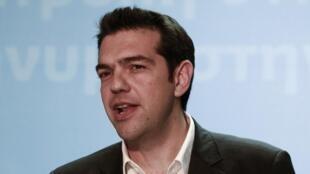 Chefe da Coalização Radical de Esquerda, Alexis Tsipras.