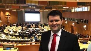 Cristian Wittmann, brasileiro do Comitê Gestor da Campanha Internacional para a Abolição das Armas Nucleares (Ican).