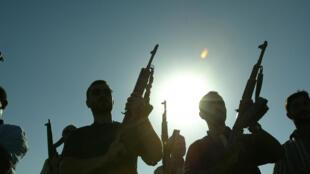 Des membres d'une société militaire privée (SMP) à Bagdad en 2007. L'invasion de l'Irak a contribué au business florissant de ce type d'entreprises.