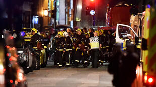 Emergency services arrive at the scene of the attack