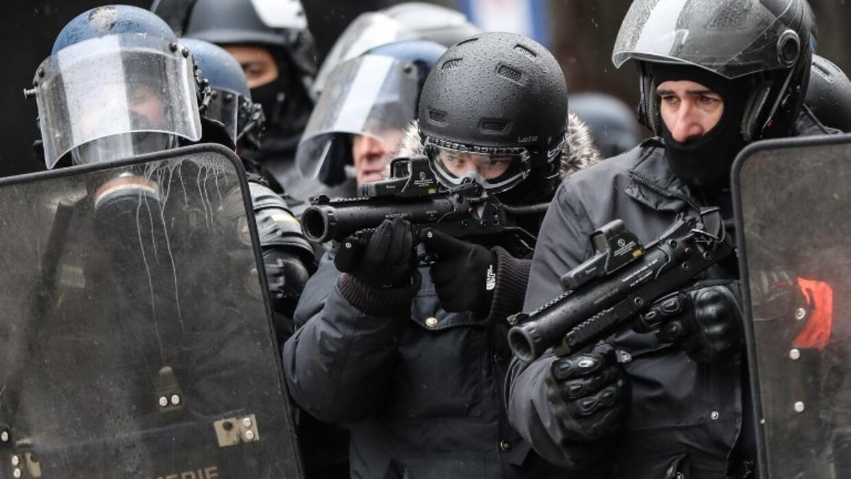 French policing methods in the firing line