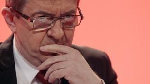 Jean-Luc Mélenchon, candidato da Frente de Esquerda.