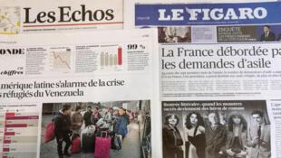 A crise migratória na América Latina é destaque do jornal Les Echos nesta quinta-feira.
