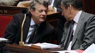 Jean-Louis Borloo (L) with François Fillon