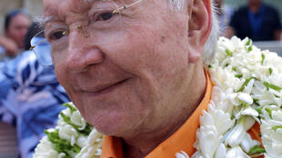 File photo of former president of French Polynesia, Gaston Flosse, now 88.