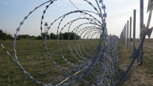 The fence along the Serbian border in Hungary.