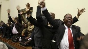 MDC MPs celebrate Moyo's election