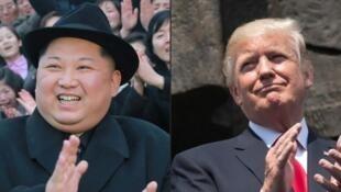 Lãnh đạo Bắc Triều Tiên Kim Jong Un (T) và tổng thống Mỹ Donald Trump. Ảnh minh họa.