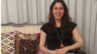 نازنین زاغری-رتکلیف، شهروند ایرانی-بریتانیایی به هنگام مرخصی از زندان