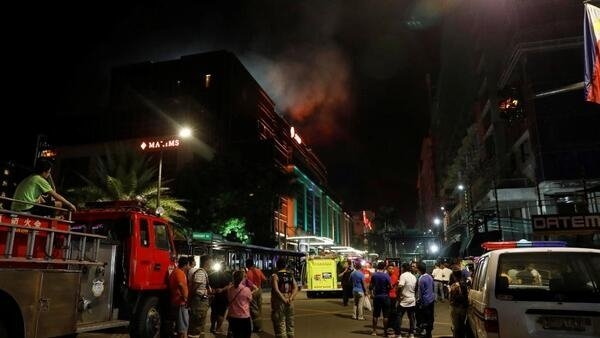 Imagem do ataque terrorista ao casino de Manila de 2 de junho de 2017 nas Filipinas