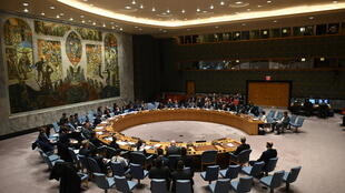 The UN Security Council usually meets in this room at the world body's headquarters in New York, but members met via videoconference because of the coronavirus crisis