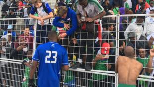 Après le match Comores-Guinée (1-0), le 12 octobre 2019 à Versailles.
