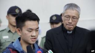 涉案香港青年陈同佳刑满出狱资料图片