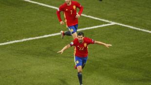 Nolito marcó el segundo gol español