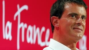 "French Prime Minister Manuel Valls at the Socialist Party's ""Université d'été"" summer meeting in La Rochelle, western France, 31 August 2014."