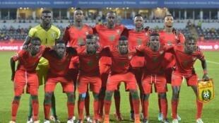 A Selecção da Guiné-Bissau no CAN 2017 que decorreu no Gabão.