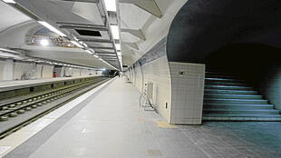 A brand-new subway station in Algiers