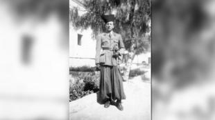 Portrait d'Abdelkader Rahmani pendant la Seconde Guerre mondiale.