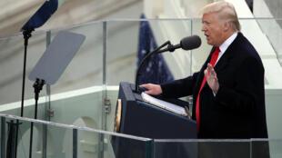 Donald Trump, lors de son discours d'investiture, le 20 janvier 2017.